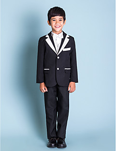 Young Lad Clothing Black Ring Bearer Outfits (1145549)