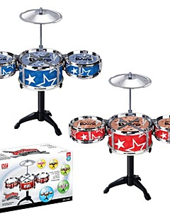 High Quality Safety Materials Educational Toys Musical Instrument Drum Kit Toys set(Red,Blue)