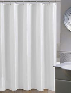 ミニマルな白色の固体水玉シャワーカーテン