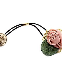 süße Rose mit Blattspitzehaargummis zufällige Farbe