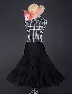 Colored 3 Tier Organza Half Slip Classic Lolita Petticoat (Skirt Length:65cm Waist:70-100cm)