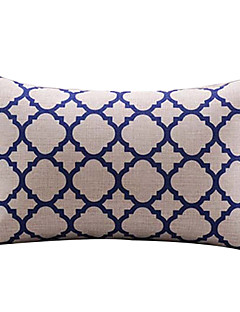 Trellis White Cotton/Linen Decorative Pillow Cover