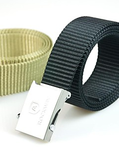 Rockway® Outdoors Men Stainless Steel Buckle Black Nylon Military Belt