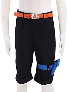 Inspired by One Piece Portgas D. Ace Anime Cosplay Costumes Cosplay Tops/Bottoms Solid Black Shorts / Belt / Pocket