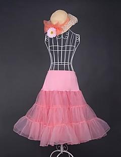 Skirt Sweet Lolita Lolita Cosplay Lolita Dress Pink White Blue Yellow Solid Medium Length Petticoat For Organza