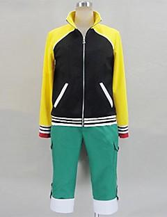 Inspired by Tokyo Ghoul Ken Kaneki Anime Cosplay Costumes Cosplay Suits Patchwork Black / Yellow / Green Long Sleeve Coat / Pants