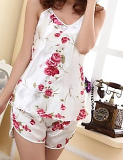 Women's Sexy White Rose Supporter Pajama
