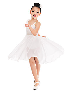 Kids' Dancewear Dresses Women's / Children's Training Spandex / Sequined Ruffles / Sequins Beige Ballet / Performance / BallroomSpring,