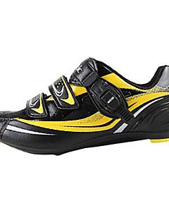 靴をロックサンティックメンズアスレチックプロMTBロードバイクサイクリング - 黄+黒