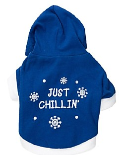 Dog Hoodie Blue Dog Clothes Spring/Fall Snowflake Fashion
