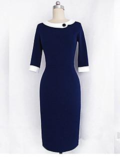Monta slim fit tre kvart ærmer kjole med revers