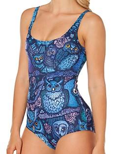 elävä yökyöpeli sininen elastaania yksiosainen naisten uima-asu