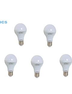 5 pcs MORSEN E26/E27 7 W 23 SMD 2835 500-600 LM Warm White A Globe Bulbs AC 220-240 V