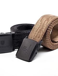 Rockways® Outdoors Men POM Buckle Jacquard Nylon Black Military Belt