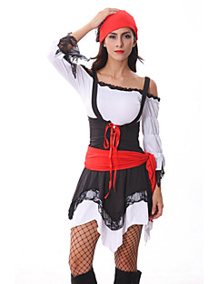 Attractive Pirate Black and Red Dress Women's Halloween Costumefor Carnival