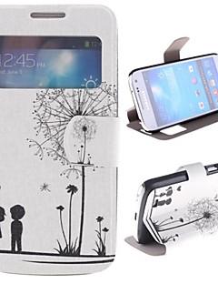 mælkebøtte mønster og kærester pu hele kroppen tilfældet med vindue og stå til Samsung Galaxy S4 mini i9190