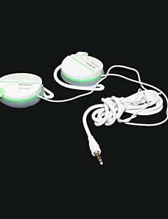 -genipu 8809 sonido hi-fi súper cristal bajo clip auriculares -white