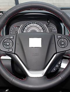 Xuji ™ cubierta de la rueda de dirección de cuero negro genuino para Honda CRV CR-V 2012 2013