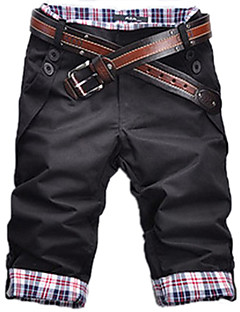 Men's Casual Check Mid Length Pants