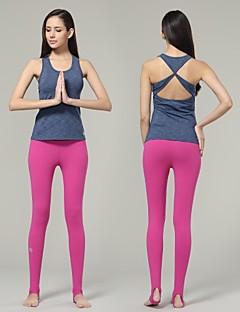 Running Tank / Tops Women's Sleeveless Breathable / Quick Dry Spandex / Nylon / Chinlon Yoga / Pilates / Fitness Yokaland Sports Wear