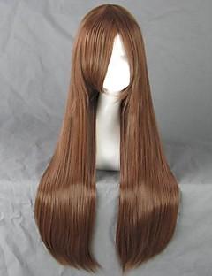 Cosplay Wigs Natsume Yuujinchou Cosplay Brown Long Anime Cosplay Wigs 80 CM Heat Resistant Fiber Female