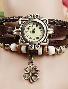 Damen Modeuhr Armband-Uhr Quartz PU Band Böhmische Schwarz Weiß Blau Rot Orange Braun Grün
