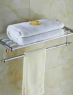Prateleira de Banheiro Ti-PVD De Parede 62*23*15cm(24.4*9*5.9inch) Latão Antigo