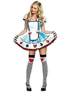 Cosplay Costumes / Party Costume Maid Costumes Festival/Holiday Halloween Costumes Blue Patchwork Dress / Headwear Halloween Female
