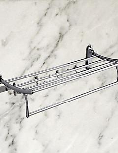 portasciugamani con ganci accappatoio, acciaio finitura inox ti-PVD, accessorio per il bagno