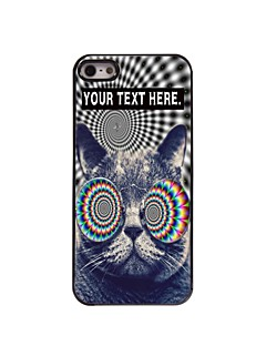 Personalized Case Cat Design Metal Case for iPhone 5/5S