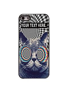 caso gato caso design de metal personalizado para iPhone 5 / 5s