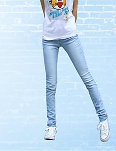kvinners bomull mote jenter classy vintage denim skinny jeans
