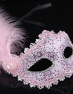 Mask Princess Fairytale Festival/Holiday Halloween Costumes Golden Black Pink Blue Solid Mask Halloween Carnival Female PVC