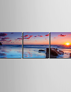 Stretched Canvas Print Landscape Traditional / Modern,Three Panels Canvas Horizontal Print Wall Decor For Home Decoration