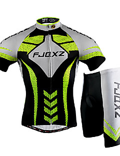 FJQXZ® Cycling Jersey with Shorts Men's Short Sleeve BikeBreathable / Quick Dry / Windproof / Ultraviolet Resistant / Front Zipper /