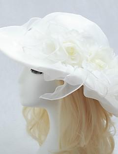 organza bryllup brude hat