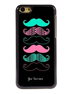 Personalized Gift Cool Mustache Design Metal Case for iPhone 5C