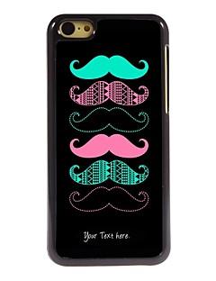 personlig gåva kall mustasch designen metallhölje för iphone 5c