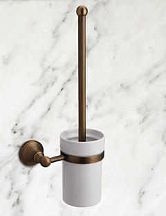 Antique Brass Wall-mounted Toilet Brush Holder Bathroom Accessory(1018-J-29-9)