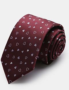 piros mintás nyakkendő