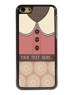 presente personalizado adorável caixa de metal projeto-de-rosa camisa para iphone 5c