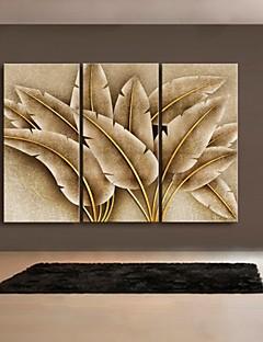 art de toile tendue feuille d'or peinture décoration ensemble de trois