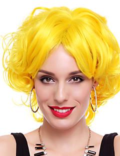 Peruki Cosplay Cosplay Festiwal/Święto Kostiumy na Halloween Żółty Jendolity kolor Peruka Halloween / Karnawał Kobieta