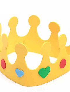 Prince and Princess Crown Child Birthday Party Hat