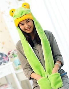 unisex lange delen søt grønn frosk varm fuzzy kigurumi aminal beanie