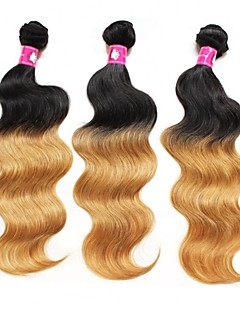 "3Pcs/Lot Top Quality Brazilian Body Wave Human Hair Extension 1B/27 ombre Human Hair Weave 16"" 18"" 20"""