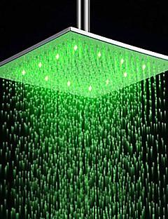 12 inch rvs douche kop met kleur veranderende led licht