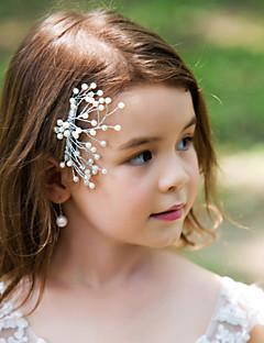Capacete Pentes de Cabelo Casamento/Ocasião Especial Liga Mulheres/Menina das Flores Casamento/Ocasião Especial