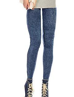 Vrouw Denim Legging,Katoenmixen Medium