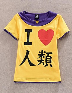 Inspired by No Game No Life Cosplay Anime Cosplay Costumes Cosplay T-shirt Patchwork / Print Yellow / Purple Short Sleeve T-shirt